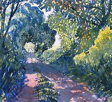 """Hockney's Tunnel of Trees"" by GlennMarshall"