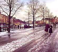 Winter walk on the Waterlooplein by J.K. York