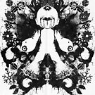 Megaman Nintendo Geek Psychological Diagnosis Ink Blot by barrettbiggers