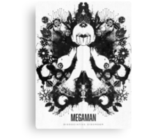 Megaman Nintendo Geek Psychological Diagnosis Ink Blot Canvas Print