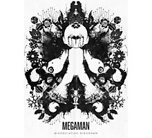 Megaman Nintendo Geek Psychological Diagnosis Ink Blot Photographic Print