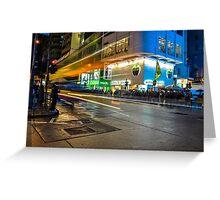 Mong Kok Bus Rush Greeting Card