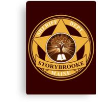 Storybrooke Sheriff Department Canvas Print