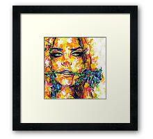 BLUE ROSE / Lana Del Rey Framed Print