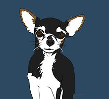 Zoe the Chihuahua Cartoon Portrait by nealcampbell