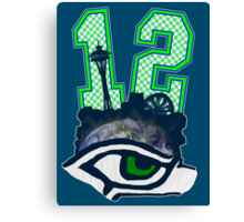 Seahawks 12th Man (SSH-000001) Canvas Print
