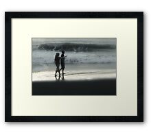 Young Walk on the Beach Framed Print