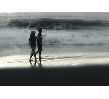 Young Walk on the Beach Photographic Print
