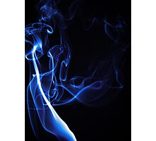 Blue Smoke Photographic Print