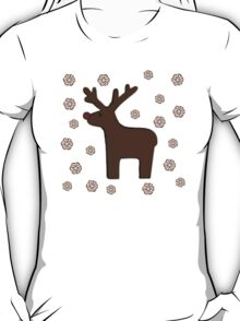 Christmas deer! green T-Shirt