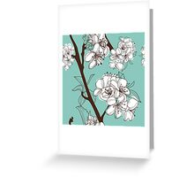 Blue Floral # 2 Greeting Card