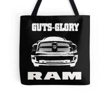 Glory Guts Ram white Tote Bag