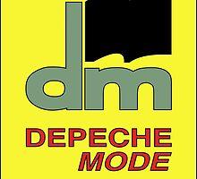 Depeche Mode : DM Logo from 1986 official t-shirt by Luc Lambert