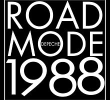 Depeche Mode : USA 1988 Road - White by Luc Lambert