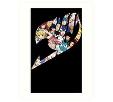 Fairy Tail Logo WITH COLOR!!! :D Art Print