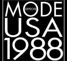 Depeche Mode : USA 1988 - 3 - White by Luc Lambert