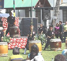 Drummers at Chinese New Years Festival Hilo, Hawaii by maliaio