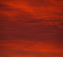 Red Sky In Morning Sailors Warning by Kat Miller