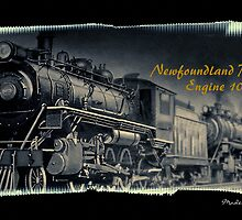 Newfoundland Railway Engine 1010 by Madeline M  Allen