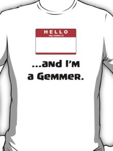 Clash of Clans - Hello My Name is and I'm a Gemmer T-Shirt
