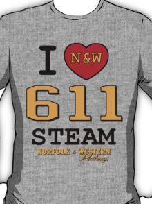 I LUV NORFOLK & WESTERN #611 STEAM T-Shirt