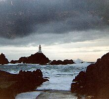 Stormy seas on Jersey by hilarydougill