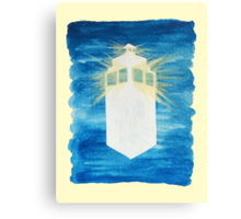 A Day in the Life of a Tardis Canvas Print