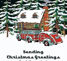 Aunt & Her Girlfriend Sending Christmas Greetings Card by Gear4Gearheads