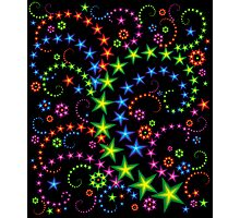 vivid star composition Photographic Print