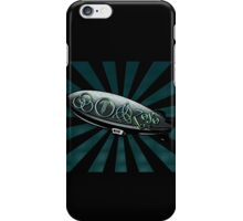 ANCIENT PAGAN SYMBOLS ON A ZEPPELIN - REEL STEEL/BLUE GREEN iPhone Case/Skin