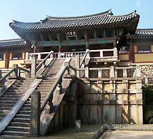 Pulgulska Buddist Temple in Kyung-Ju S.Korea by Debbie Montgomery