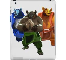 Dota 2 - Brewmaster Elements (Earth - Storm - Fire) [Vector] iPad Case/Skin