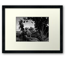 Sedona in Black & White Framed Print