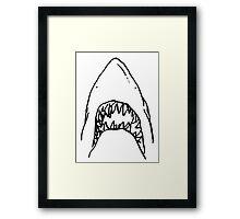 Shark - White Framed Print