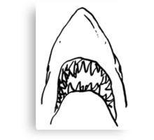 Shark - White Canvas Print