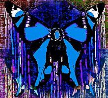 Blue ButterflyTears by Saundra Myles