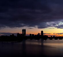 boston skyline silhouette by evanguarino