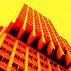 Yellow Crazy Building by Cyn Piromalli