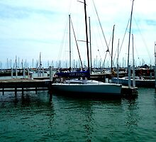 A Boat in Monroe Harbor by whatevermortal