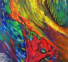 Burning red man by AdrianWilsonArt