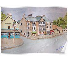 Watercolour . Silverdale Lancs UK Poster