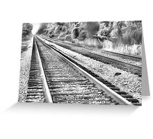Lonely tracks Greeting Card