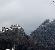 castle in the alps by kristana