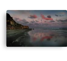 Twilight And The Cliffs Of Kai Iwi Beach Canvas Print