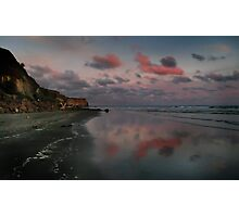 Twilight And The Cliffs Of Kai Iwi Beach Photographic Print