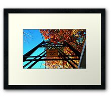 0538 - HDR Panorama - Walking Bridge Framed Print