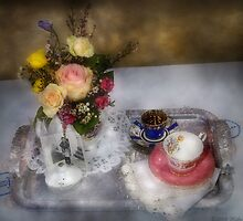 My Grandmothers Tea Set by Mike  Savad