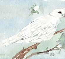 Little White Dove painting by Maree  Clarkson