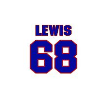 National football player Butch Lewis jersey 68 Photographic Print