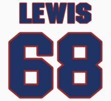 National football player Butch Lewis jersey 68 by imsport